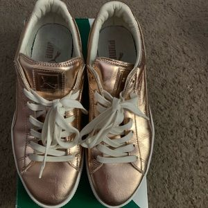 Rose Gold Puma Sneakers